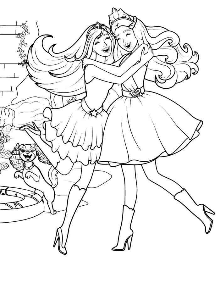 New barbie coloring pages, appeared in our collection of computer coloring pages for girls