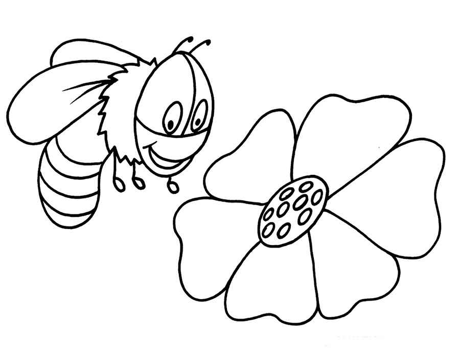Bumble bee coloring pictures
