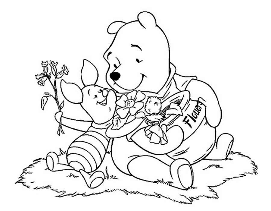 pooh baire coloring pages - photo#11