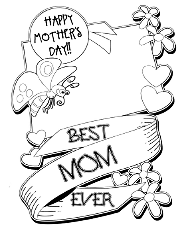 for Mothers day adult coloring pages