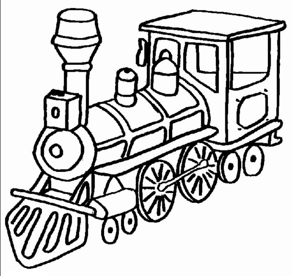 Coloring pages of trains
