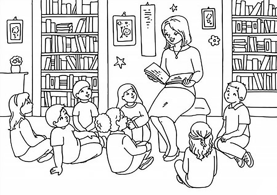 Mom baking coloring pages