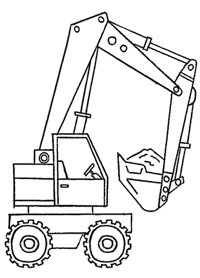 digger s coloring pages - photo#34