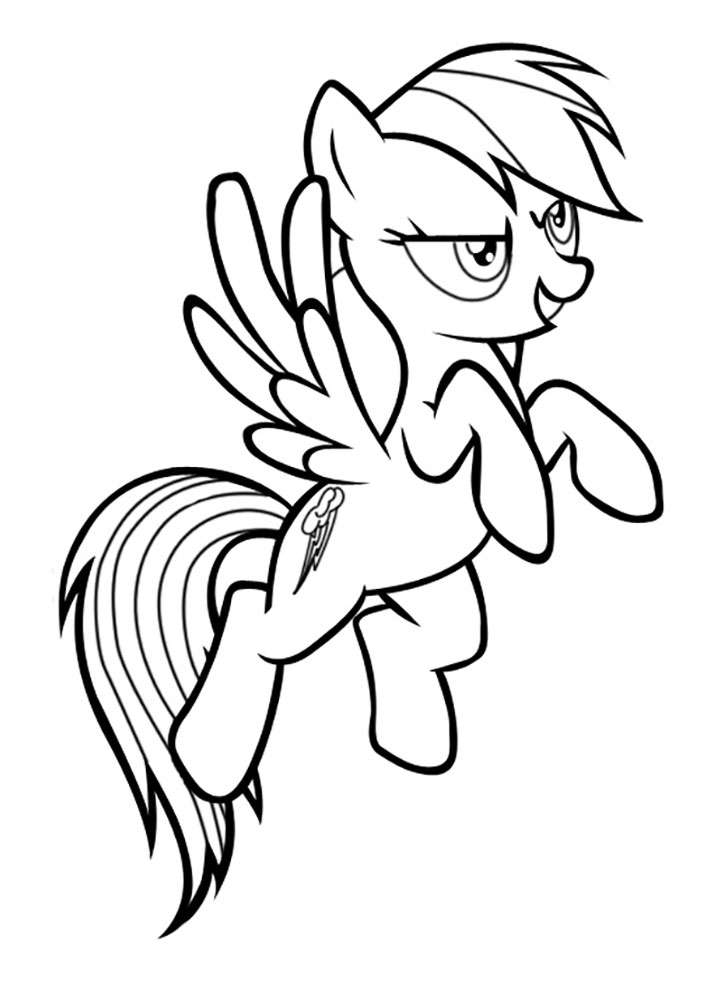 My little pony coloring pages pinkie pie and rainbow dash