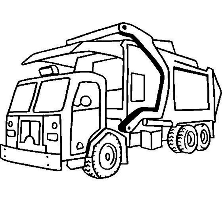Free coloring pages garbage truck - Garbage Waste Truck Coloring Pages Download Amp Print